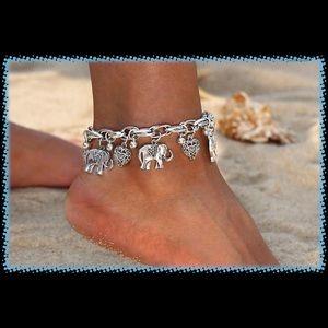 Jewelry - Silver Plated Elephant Ankle Bracelet